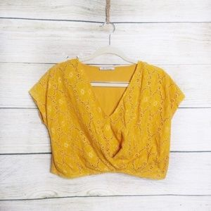 Yellow Zara Crop Top